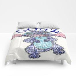 Stitch Word Art Comforters