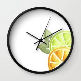 Limes & Lemons Wall Clock