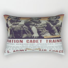 Vintage poster - Aviation Cadet Training Rectangular Pillow