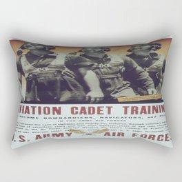Vintage poster - Aviation Cadet Training Rectangular Pillow