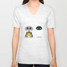 Wall-E and Eve Unisex V-Neck