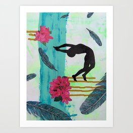 Diving In Art Print