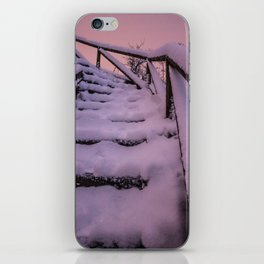 Snow covered Stairway to Heaven iPhone Skin