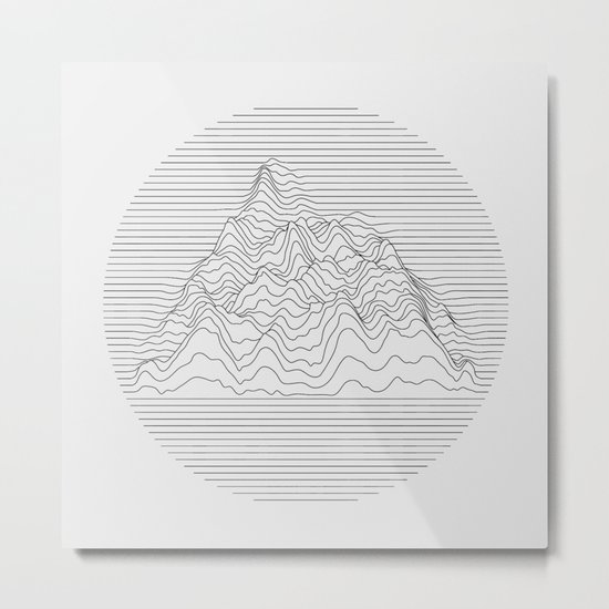 Mountain lines Metal Print