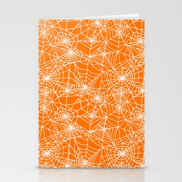 Pumpkin Cobwebs Stationery Cards