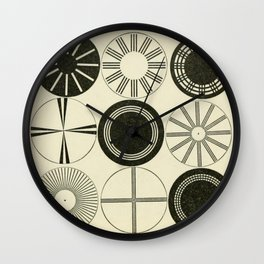 Vintage Astigmatic Chart Wall Clock