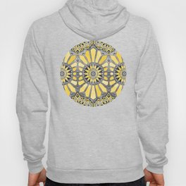 Sunny Yellow Radiant Watercolor Pattern Hoody