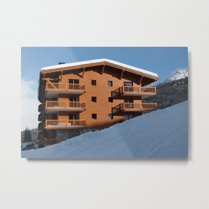 Mountain chalet, holiday home Metal Print