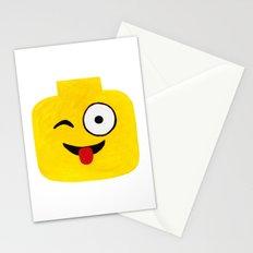 Winking Smile - Emoji Minifigure Painting Stationery Cards