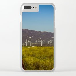 Group of fans in the mountains. Clear iPhone Case