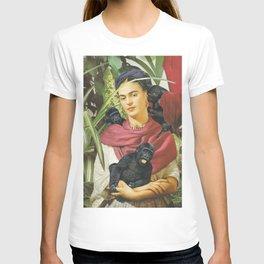 Frida Kahlo - Self portrait with monkeys recreated T-shirt