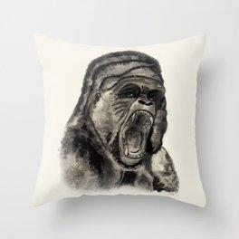 Gorilla Ink Throw Pillow