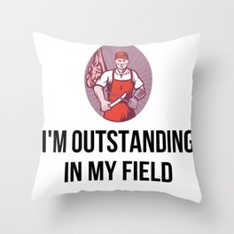 gift for butcher Throw Pillow
