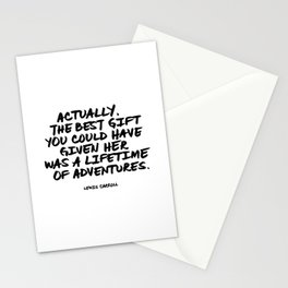 Actually, the best gift you could have given her was a lifetime of adventures.   Lewis Carroll Stationery Cards