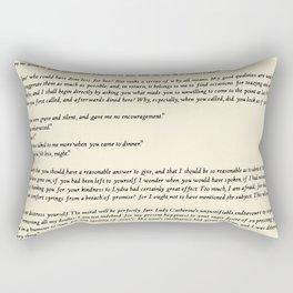 Pride and Prejudice Jane Austen antique white Rectangular Pillow