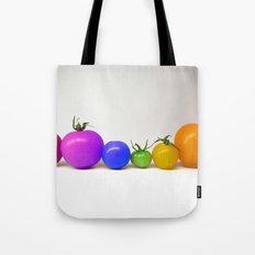Rainbow Tomatoes Tote Bag