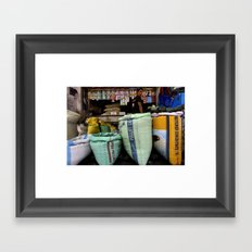 Color Market Framed Art Print