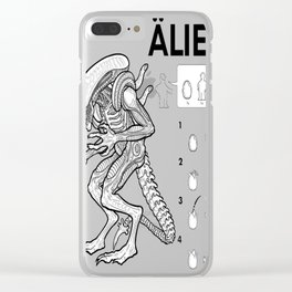 In the bookcase aisle, no one can hear you scream Clear iPhone Case
