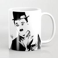 chaplin Mugs featuring Chaplin by Vee Ladwa