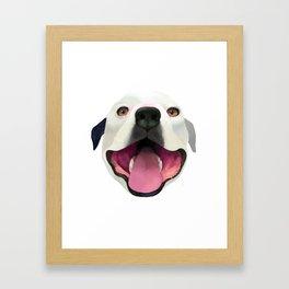 Bugle the Pit Bull Framed Art Print