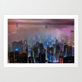New City Skyline Art Print