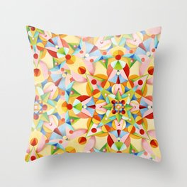 Pastel Geometric Throw Pillow