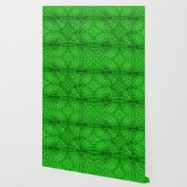 Grass Green Motion Mandala Wallpaper