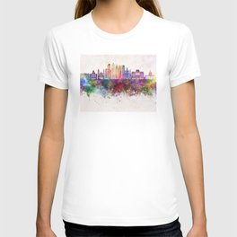 Buenos Aires V2 skyline in watercolor background T-shirt