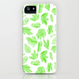 Crystals - Emerald iPhone Case