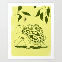 Turtle and Spider Art Print