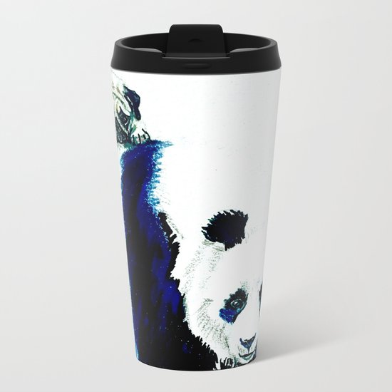 Pug and Panda Metal Travel Mug