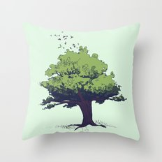 Arbor Vitae - Tree of Life Throw Pillow
