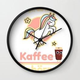 Two things I love: coffee and unicorns Wall Clock
