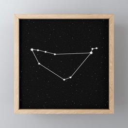 Capricorn Star Sign Night Sky Framed Mini Art Print
