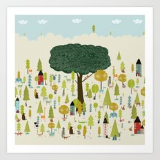 little nature wood Art Print