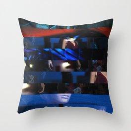 Mixed Media abstract art Throw Pillow