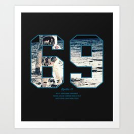 Apollo Mission 1969 First MAn on the Moon Art print Art Print