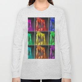 Nine Nudes Pop Art Collage Long Sleeve T-shirt