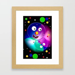 Good mood, colored balls. Framed Art Print