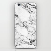 white marble iPhone & iPod Skins featuring Marble by MatiasMilton
