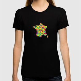Abstract France Bright Earth T-shirt