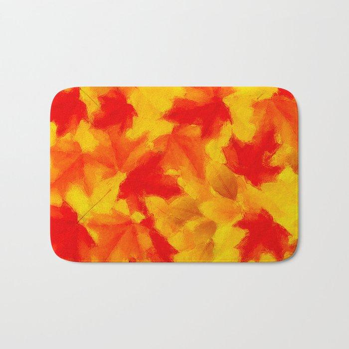 Autumn leaf abstract Bath Mat