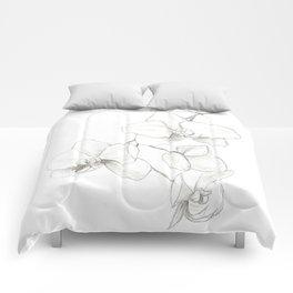 Orchids Sketch Comforters