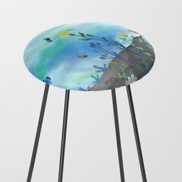 Blue Garden I Counter Stool