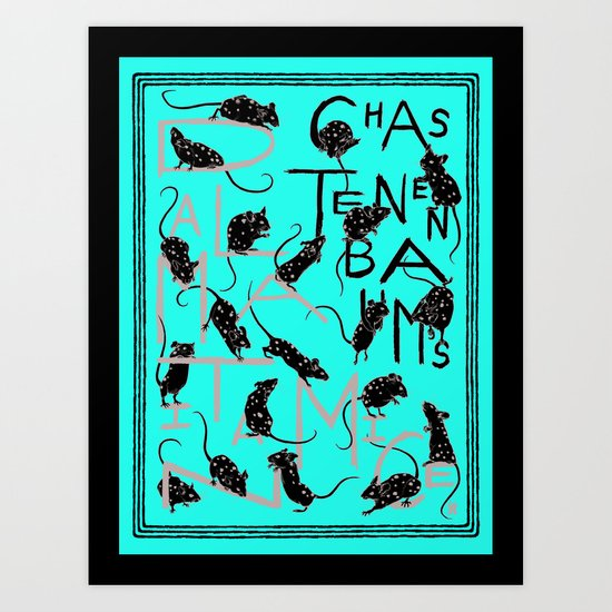 Chaz Tenenbaum's Dalmatian Mice Art Print