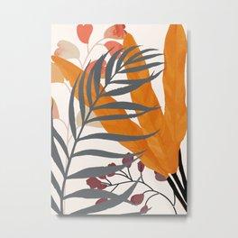 Colorful Red Leaves Metal Print