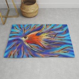 Poloniussa - red angelfish Rug