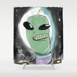 Space Alien Shower Curtain