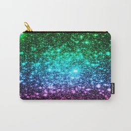 glitter Cool Tone Ombre (green blue purple pink) Carry-All Pouch
