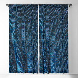 Dragonfly shiny vibrant blue wings Blackout Curtain